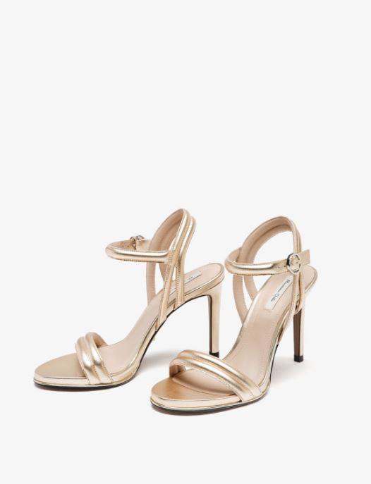 Sandales en cuir laminé - Massimo Dutti