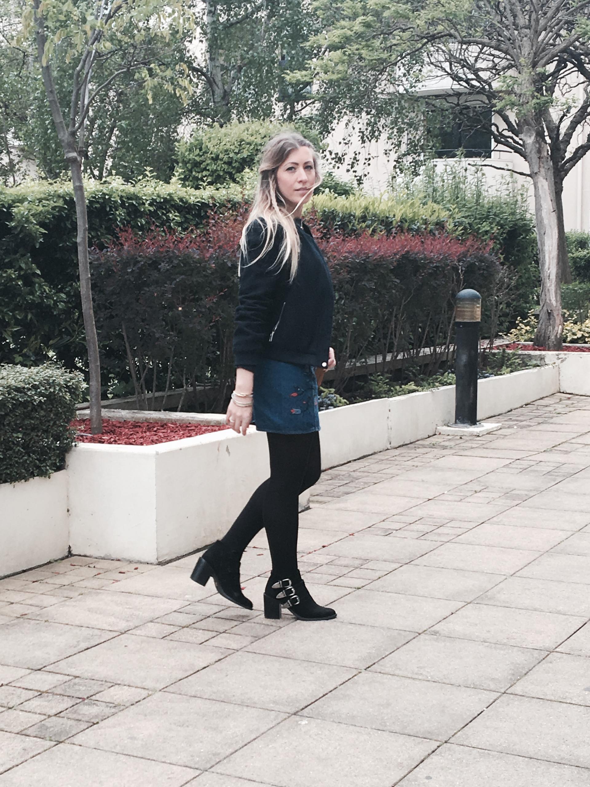 Sharefashion - La jolie jupe en jean brodée 5