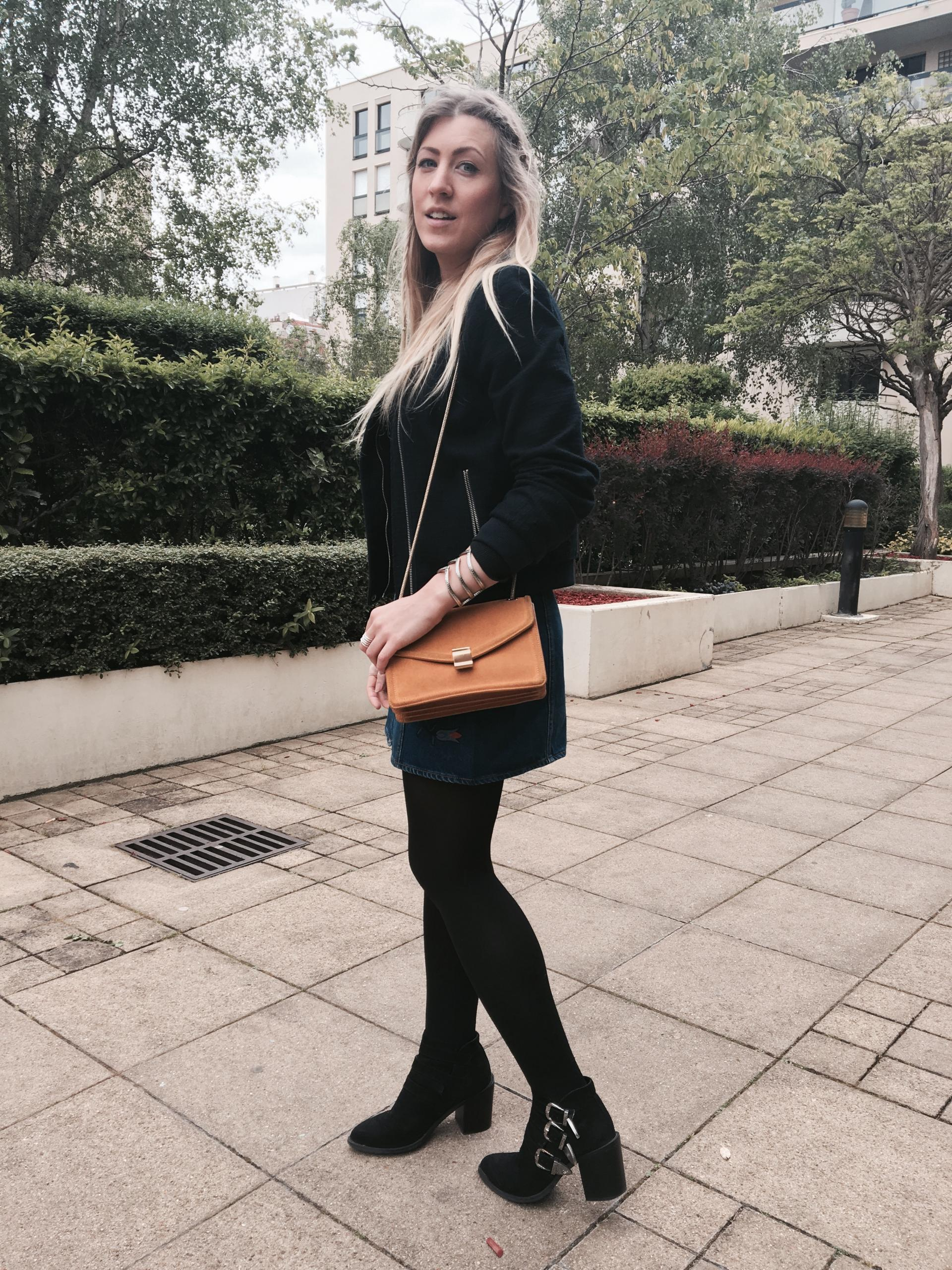 Sharefashion - La jolie jupe en jean brodée 8