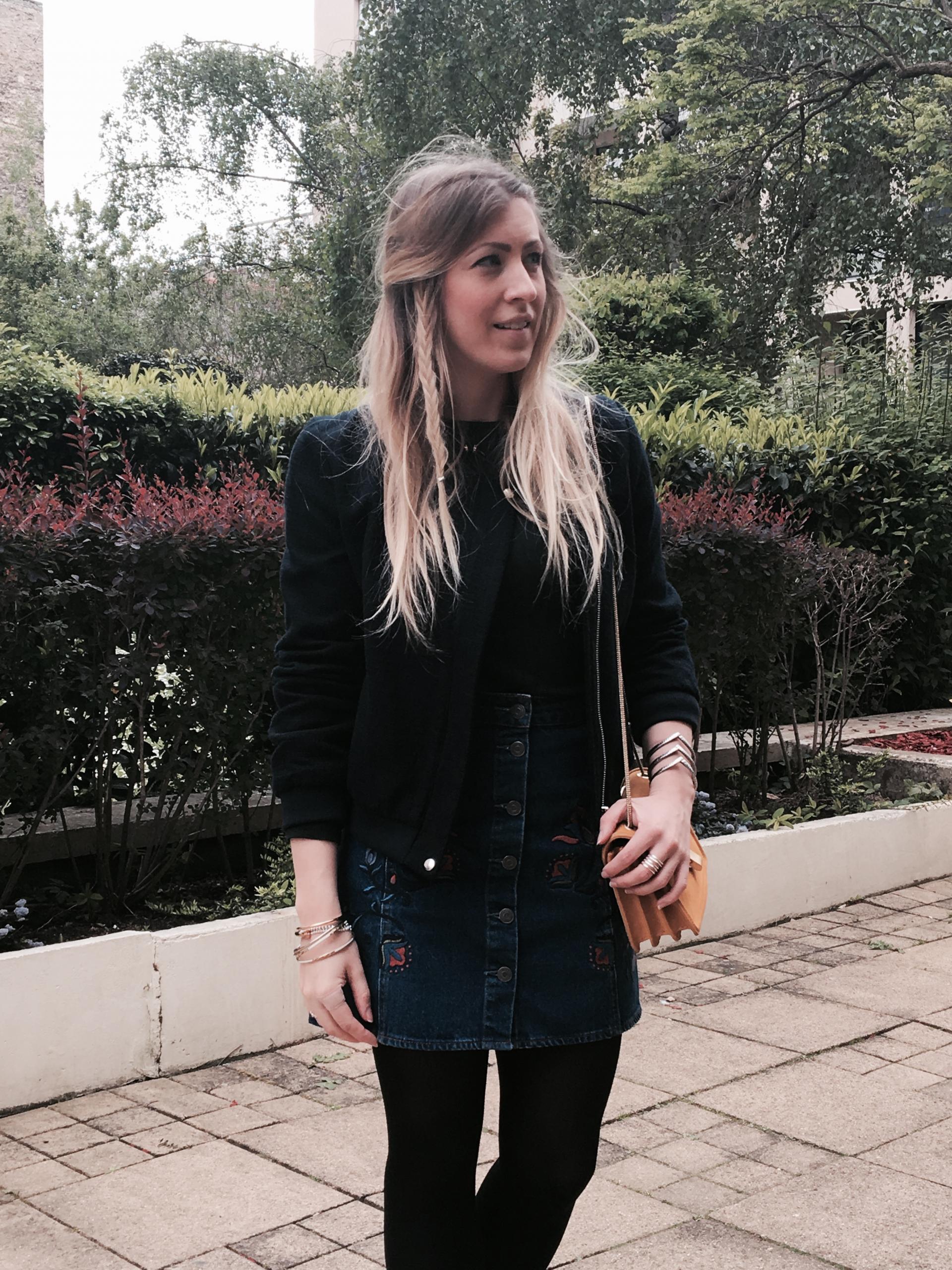 Sharefashion - La jolie jupe en jean brodée 4
